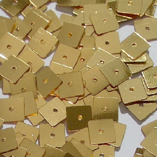 7mm Metallic Gold Square Sequin x 600